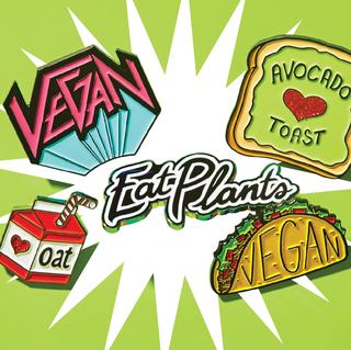 vegan pin