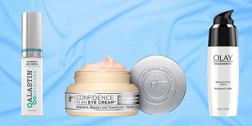 IT Cosmetics Eye Cream, Olay Regenerist Serum, Alastin Peptide serum