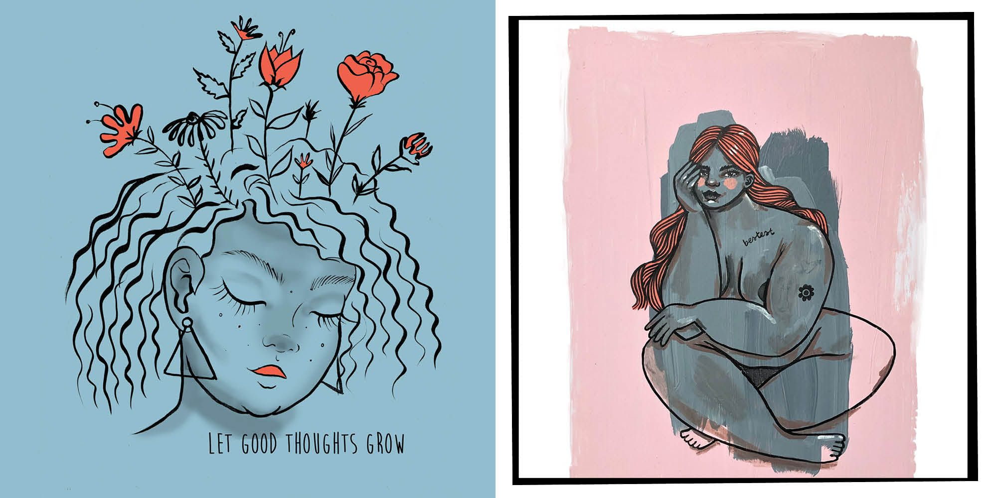 We Asked Five Illustrators To Draw What Body Image Means To Them