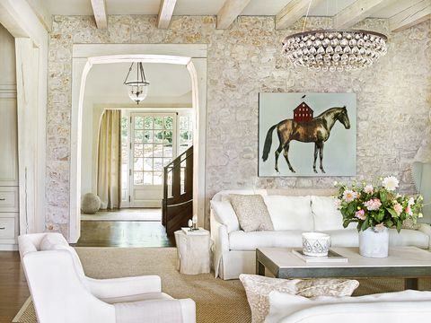chic country house living room