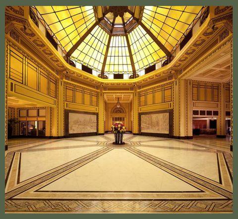 the atrium of the fairmont peace hotel shanghai