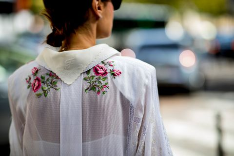 White, Street fashion, Clothing, Shoulder, Pink, Beauty, Neck, Fashion, Outerwear, Joint,
