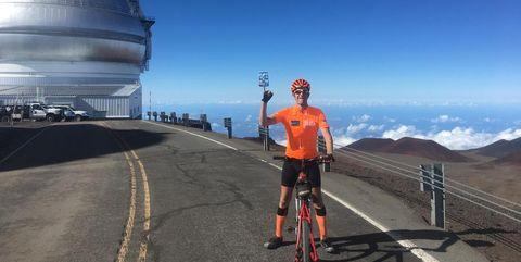 Ties Arts op de top van de zwaarste klim van de wereld