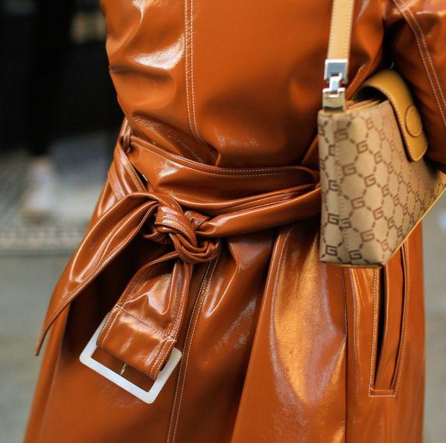Leather, Street fashion, Brown, Outerwear, Fashion, Tan, Textile, Leather jacket, Bag, Caramel color,