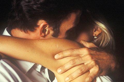 Love, Hand, Forehead, Interaction, Lip, Romance, Gesture, Finger, Black hair, Mouth,