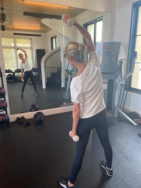 misha nonoo working out