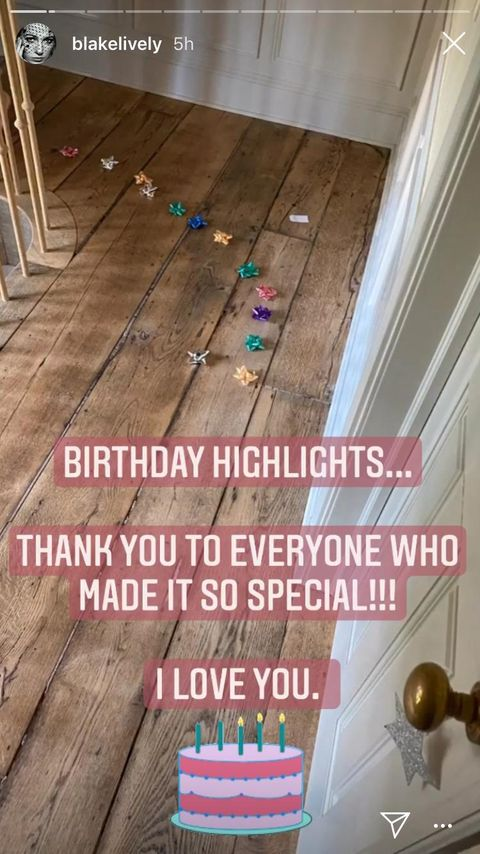 blake lively shares behind the scenes look at birthday celebrations