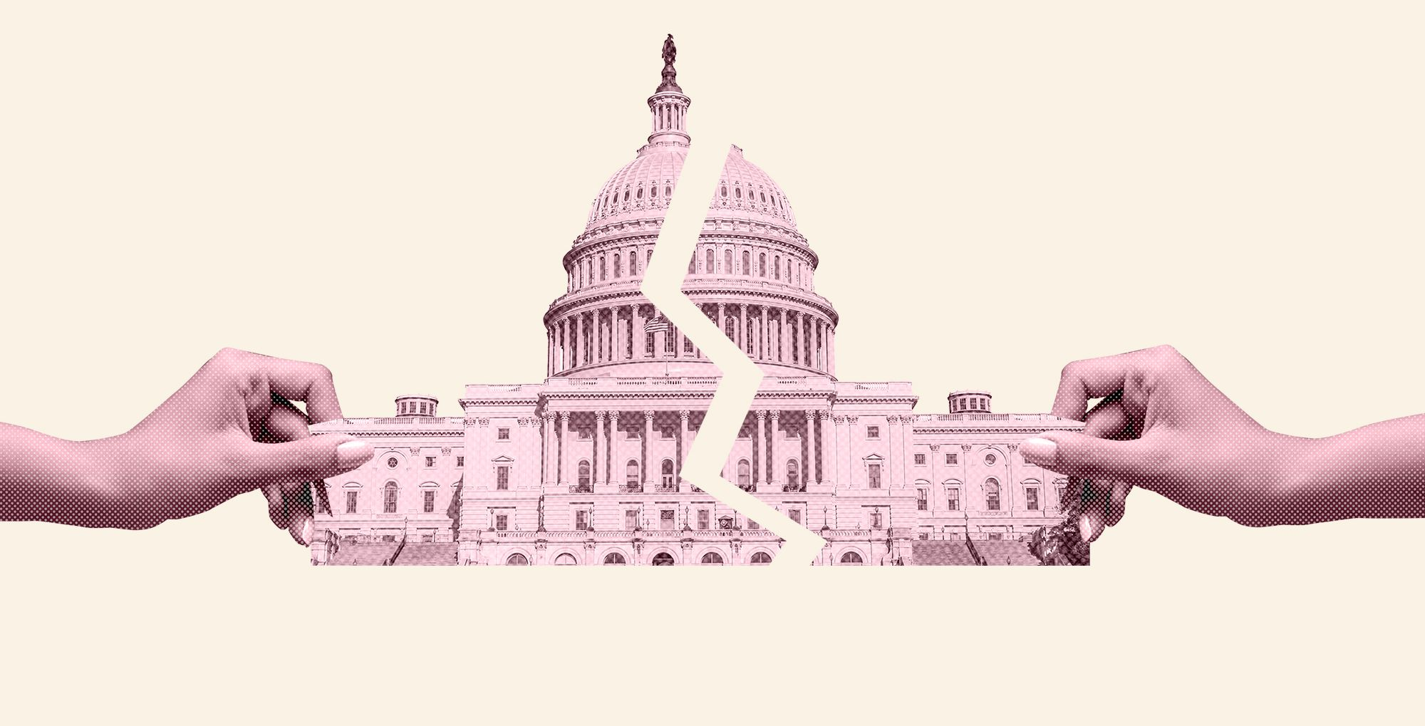 United States Capitol Building Isolated On White