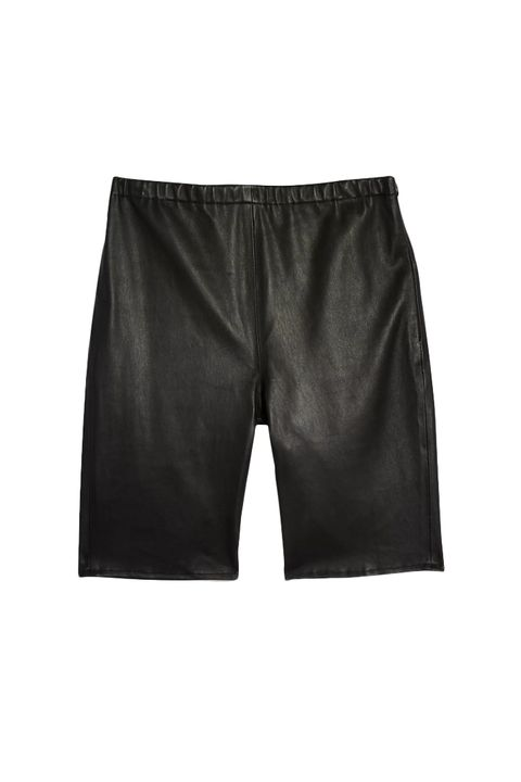What to wear to carnival - Topshop boutique Leather cycling shorts - £45