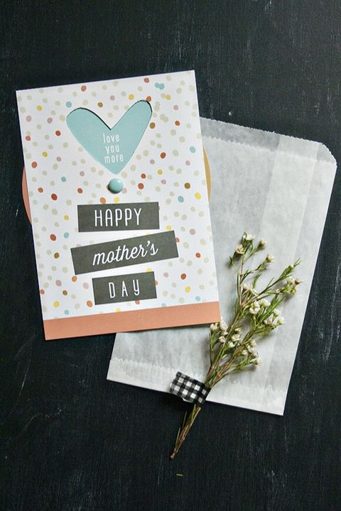 DIY Mother's Day Card - Wheel Card
