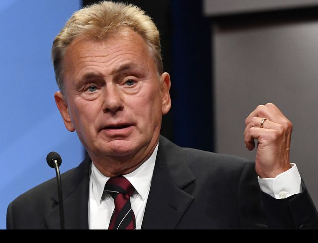 las vegas, nv   april 09  wheel of fortune host pat sajak speaks as he is inducted into the national association of broadcasters broadcasting hall of fame during the nab achievement in broadcasting dinner at encore las vegas on april 9, 2018 in las vegas, nevada nab show, the trade show of the national association of broadcasters and the worlds largest electronic media show, runs through april 12 and features more than 1,700 exhibitors and 102,000 attendees  photo by ethan millergetty images