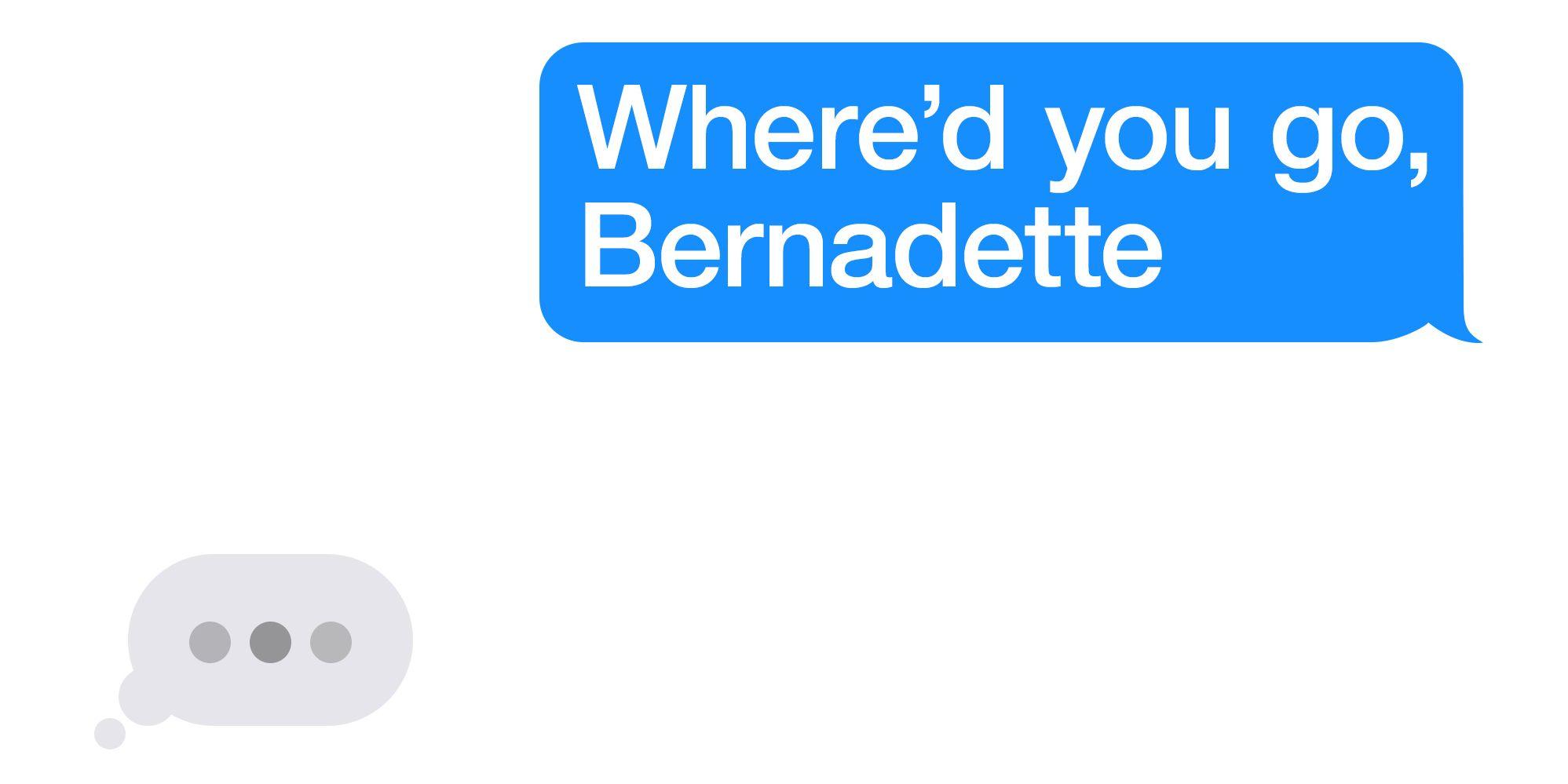 where'd you go bernadette movie trailer poster
