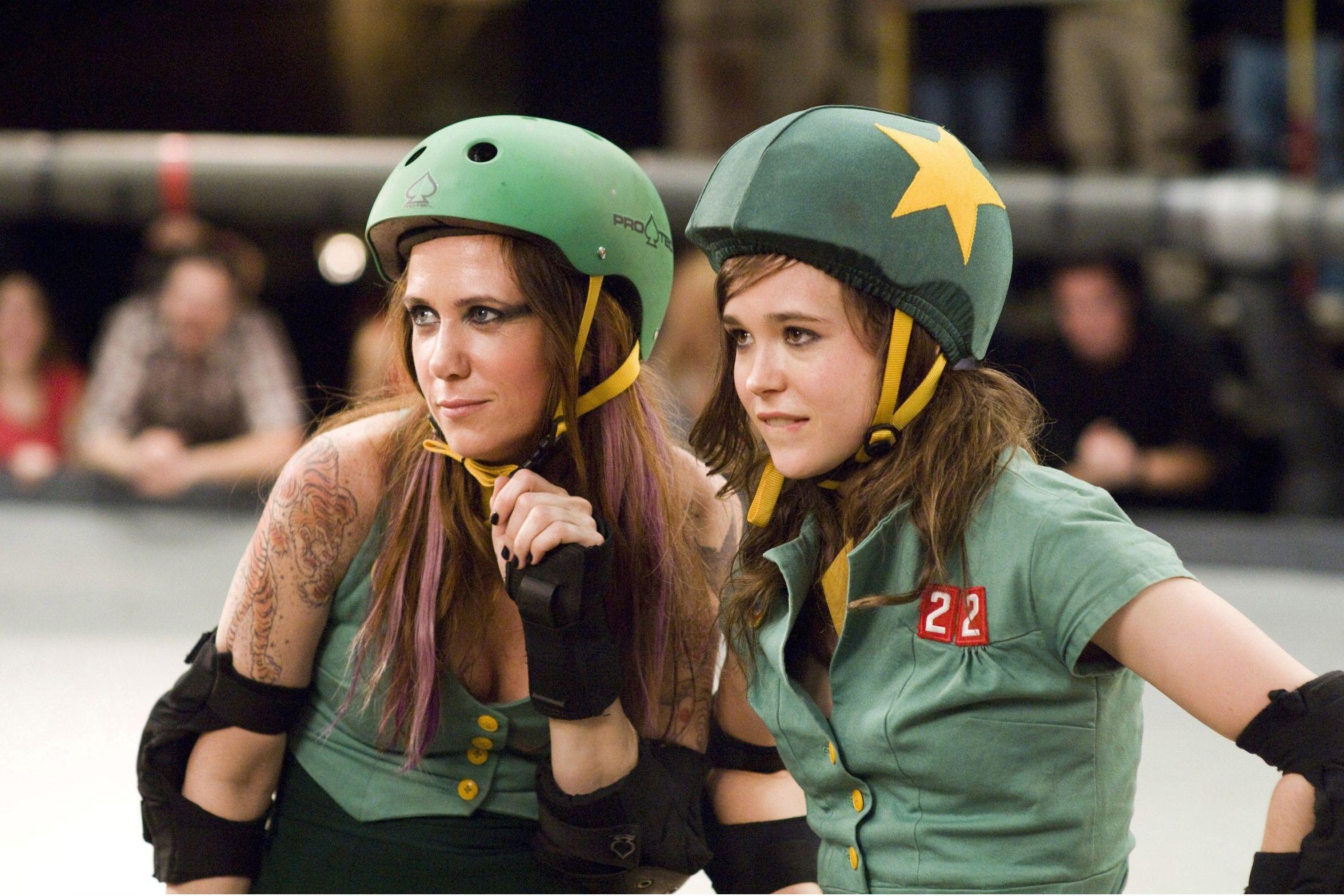 Ellen Page and Kristen Wiig in Whip It