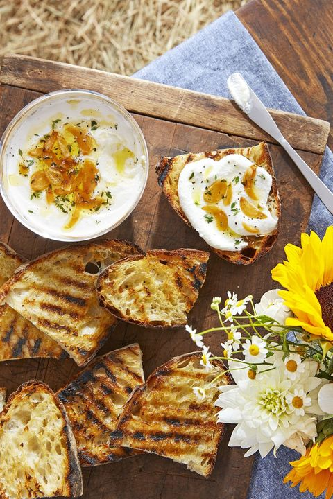whipped ricotta and grilled bread
