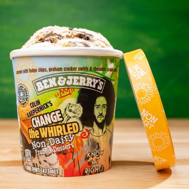 ben  jerry's teamed up with colin kaepernick on a new flavor