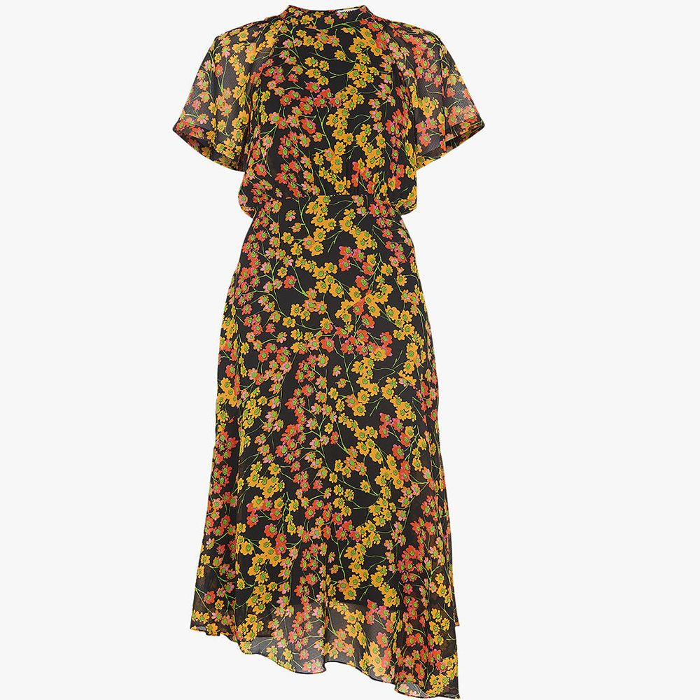 Whistles Daisy Print Midi Dress