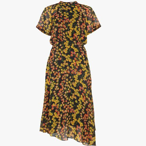 Whistles Daisy Print Midi Dress