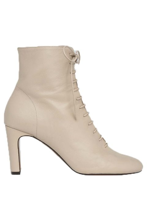 Footwear, Shoe, Beige, Boot, Brown, High heels, Khaki, Leather,
