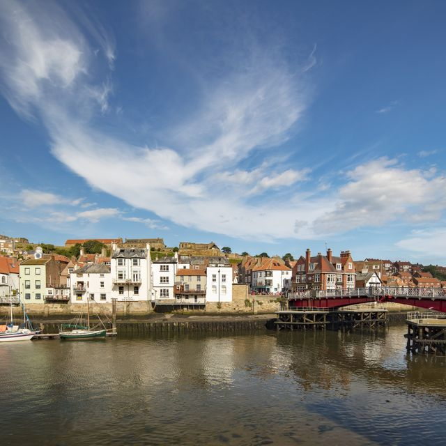 whitby waterfront in yorkshire, england, 2018