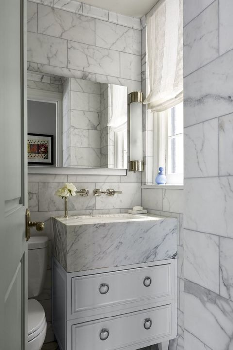 30 Stunning White Bathrooms How To Use White Tile And