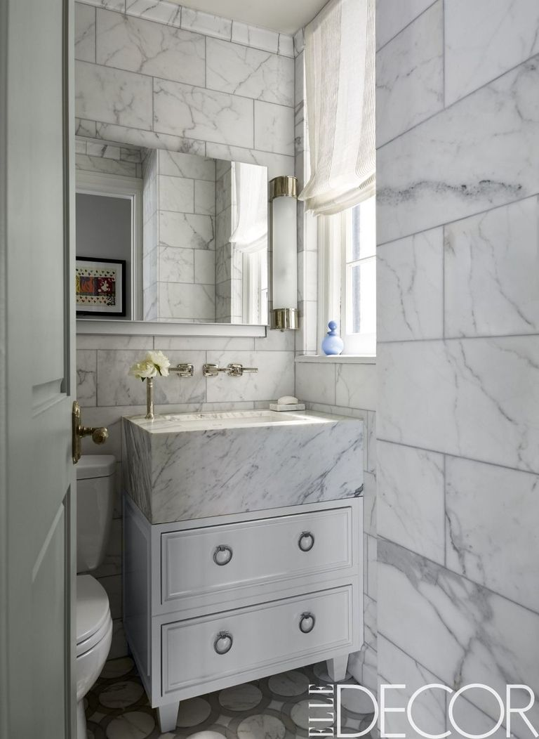 25 White Bathroom Design Ideas - Decorating Tips for All ...