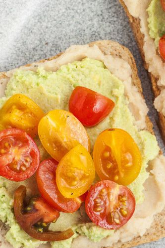 white bean avocado toast