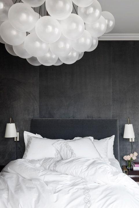 White, Bedroom, Room, Bed, Wall, Furniture, Bed frame, Bed sheet, Ceiling, Lighting,
