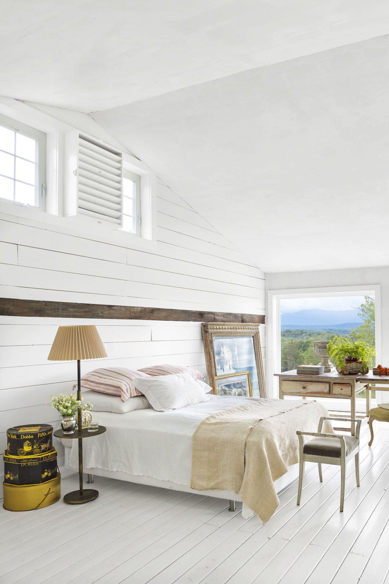 white bedrooms shiplap