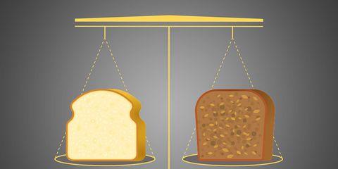 White bread vs. wheat bread.