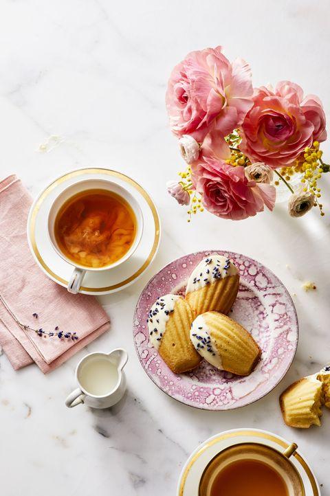 White Chocolate and Lavender Madeleines - Valentine's Day Desserts