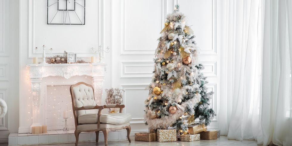 White Christmas Tree Theme.Stunning Christmas Tree Ideas For 2018 Best Christmas Tree