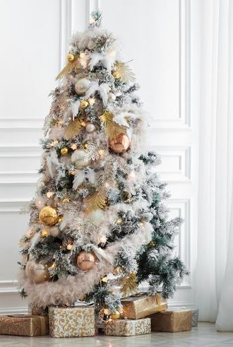 christmas tree ideas - White Christmas Tree Decorations