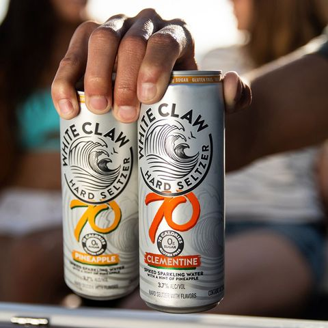 white claw's new 70 calorie white seltzer in pineapple and clementine flavors