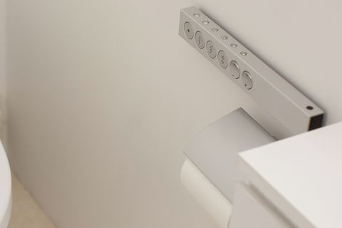 white clean toilet in washing closet