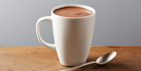 White cup of hot chocolate