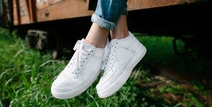 clean white trainers