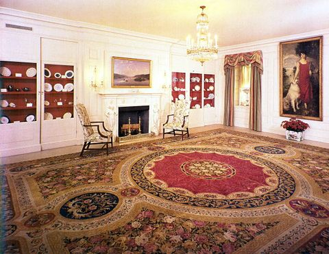the white house china room in 1975