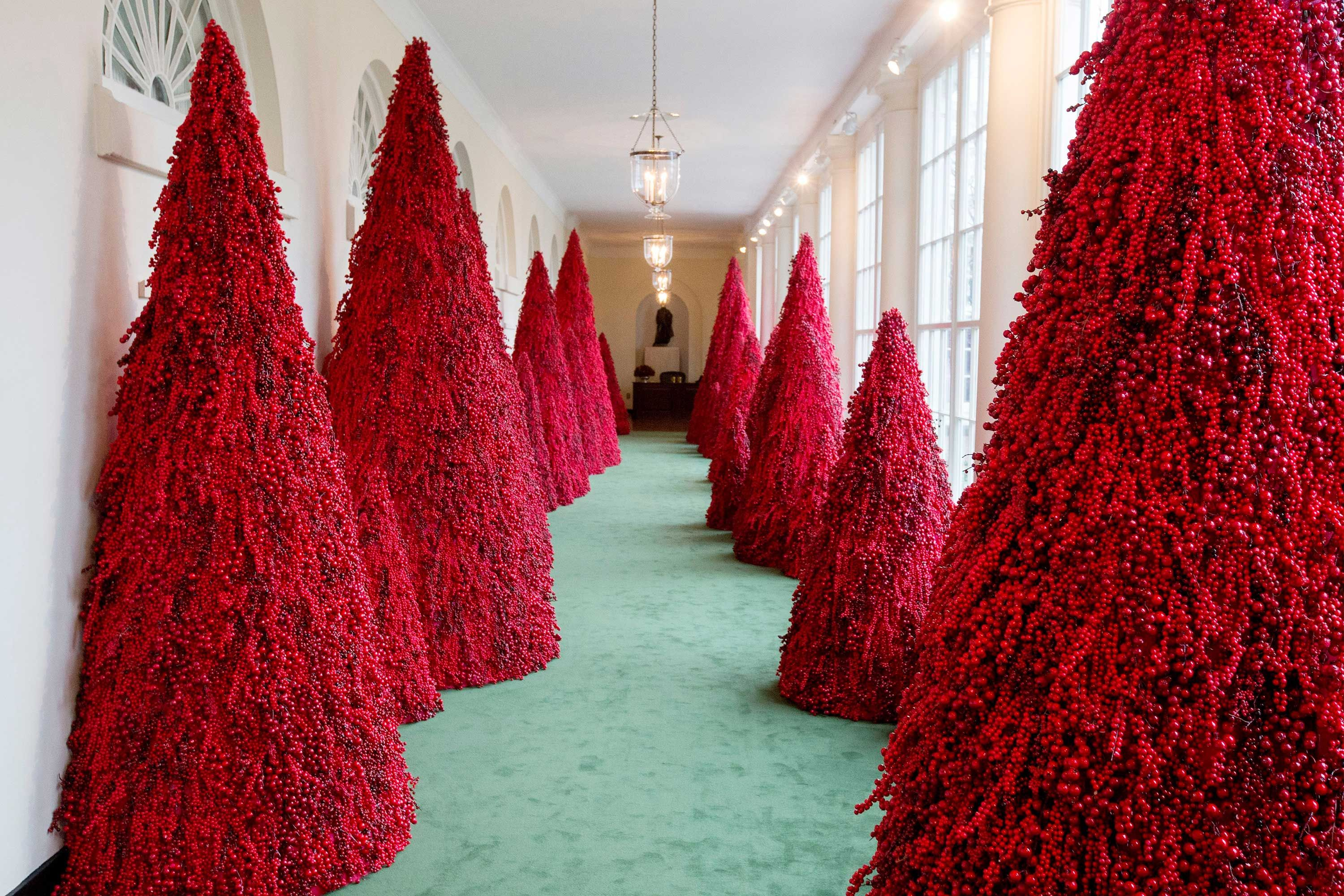 Whitehouse Christmas Decorations.White House Christmas Decorations Confuse Twitter Yet Again