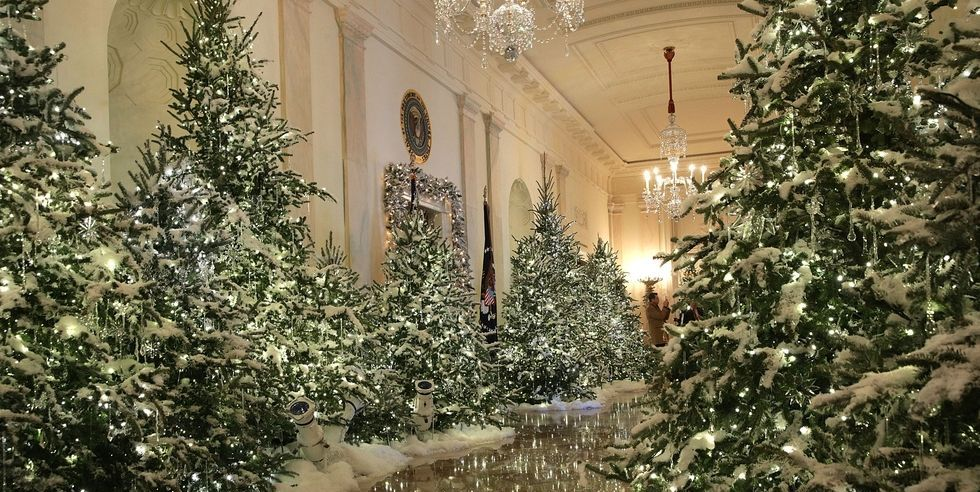 November 2020 House Beautiful Black And White Christmas Decorations The White House Reveals Its Christmas Decorations   Melania Trump