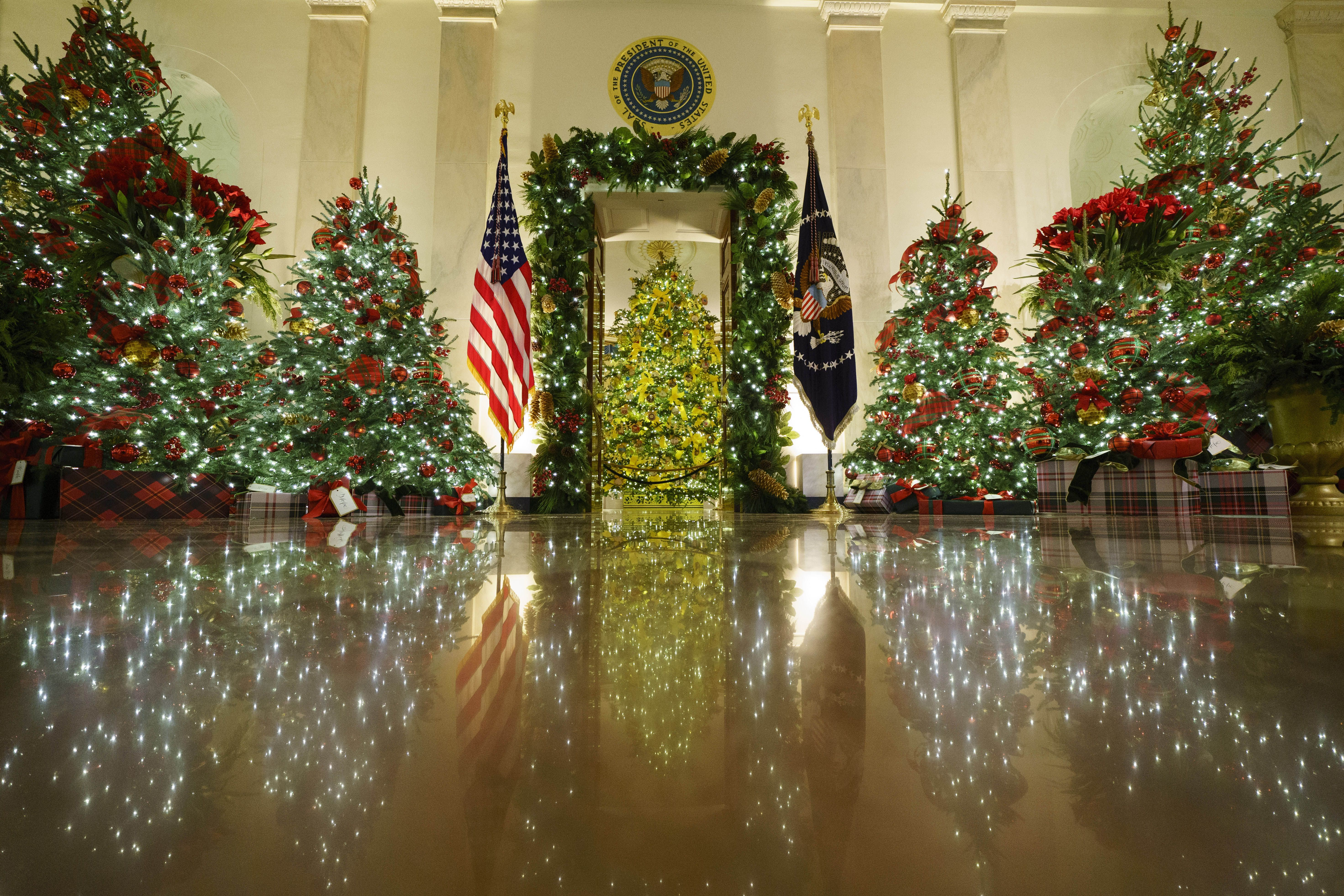 Melania Trump Unveils Christmas Decorations For Final Festive Season At The White House