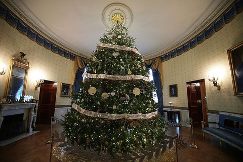 Which President Banned Christmas Trees From The White House.White House Christmas Trees Facts And History Behind White