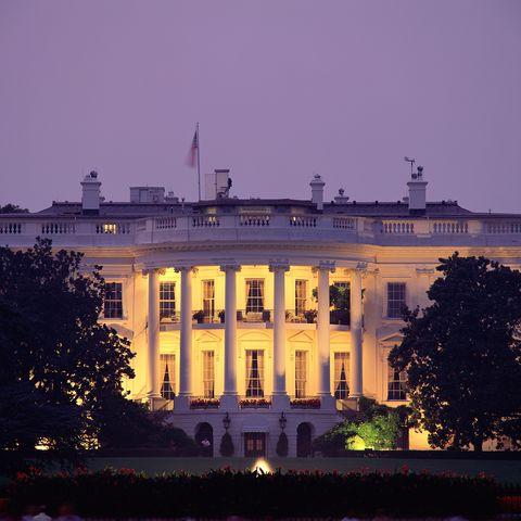 usa, washington dc, white house, exterior, night