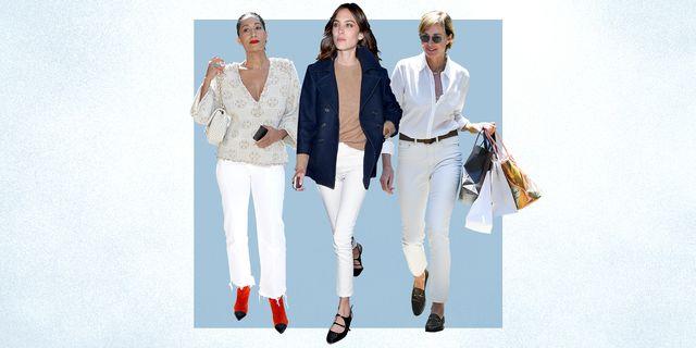 white denim style