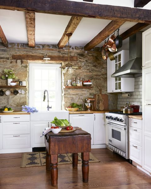 1730s stone house in long valley, new jersey homeowners petra ivanov and husband andrej kitchen