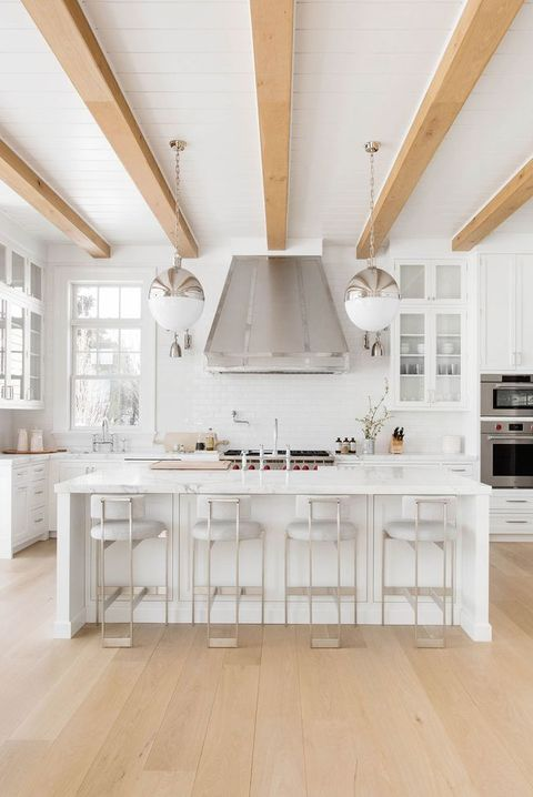 40 Best White Kitchen Ideas - Photos of Modern White Kitchen ... Ideas For Kitchen Cabinets White Tile Floor on ideas for white kitchen cabinets, ideas for white bathroom tile, ideas for white kitchen backsplash,