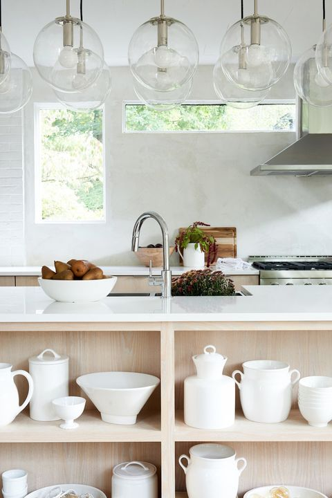 all white kitchens