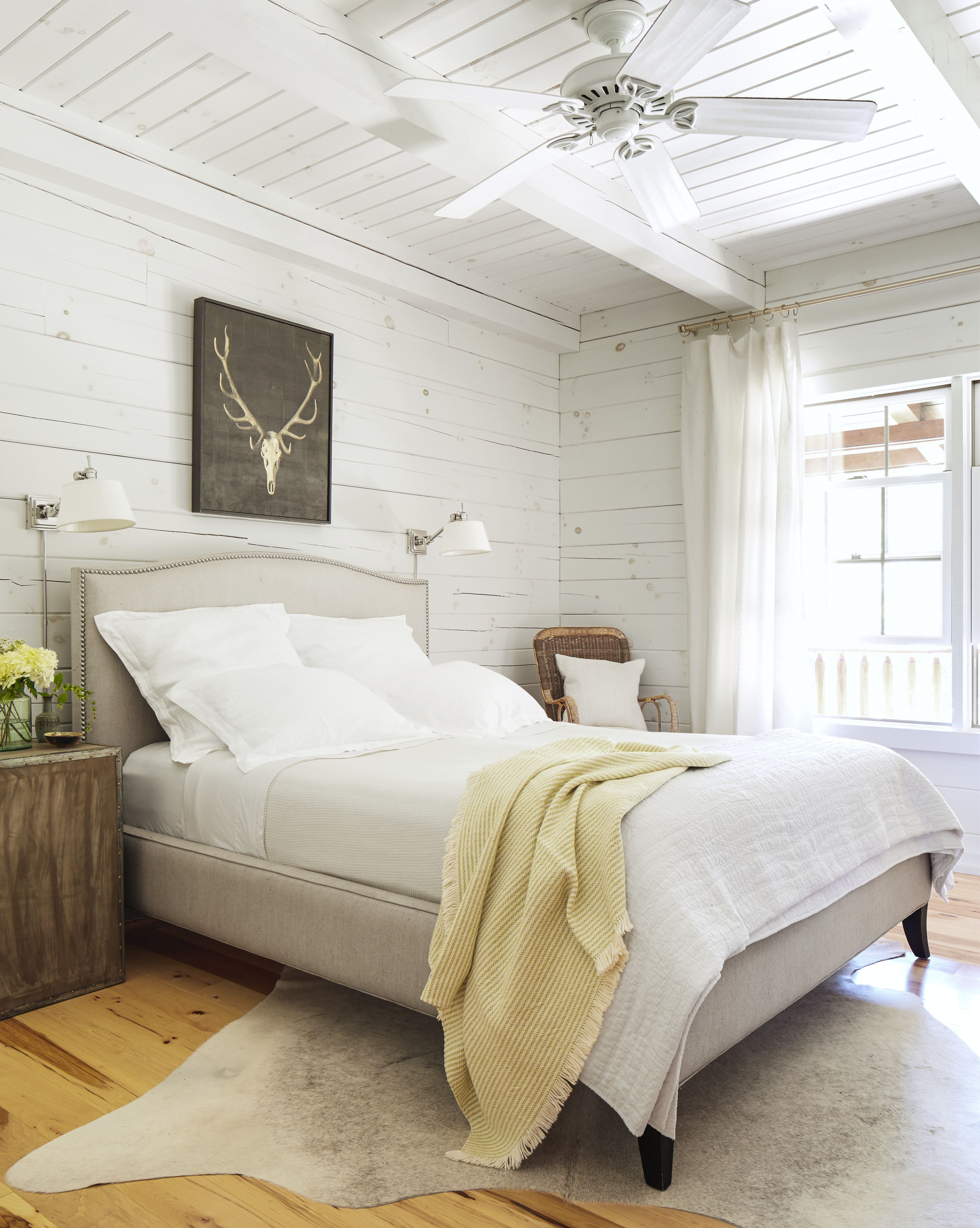 neutral country bedroom & 55 Bedroom Decorating Ideas - How to Design a Master Bedroom