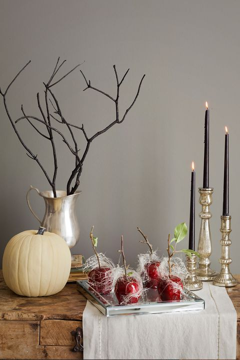 candlelit fall decor