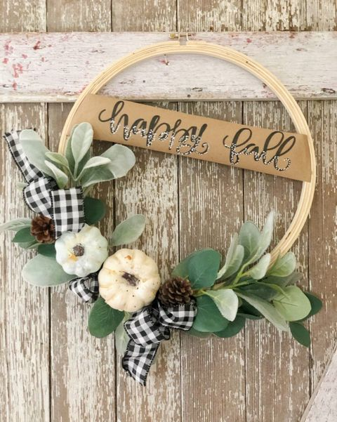 fall diy wreaths white pumpkin