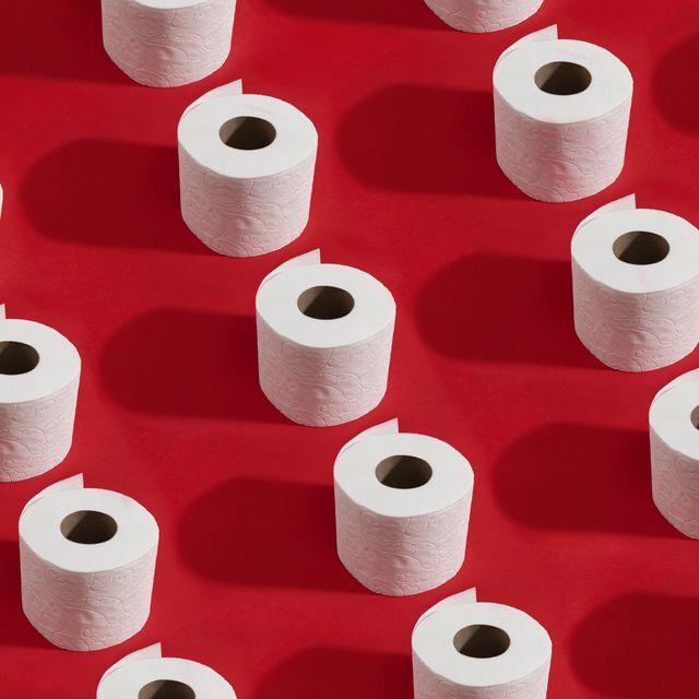 white roll toilet paper
